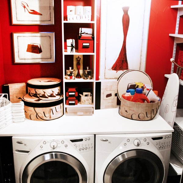 Organizing With Style Turning A Laundry Closet Into A Laundry Room Blue I Style