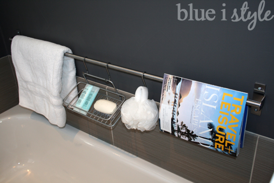 Ikea Grundtal rail for bathroom storage