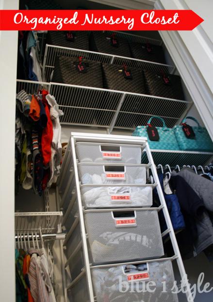 How To Organize A Nursery Closet Blue I Style