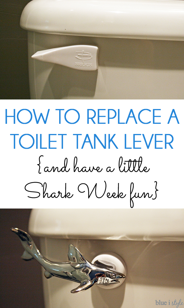 Replace toilet lever with shark lever