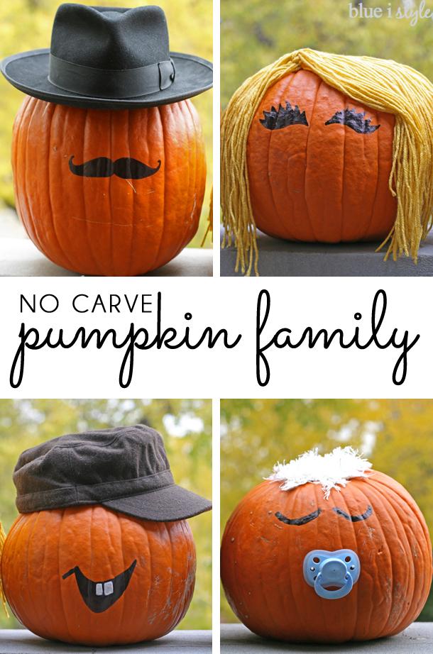 No carve pumpkin people