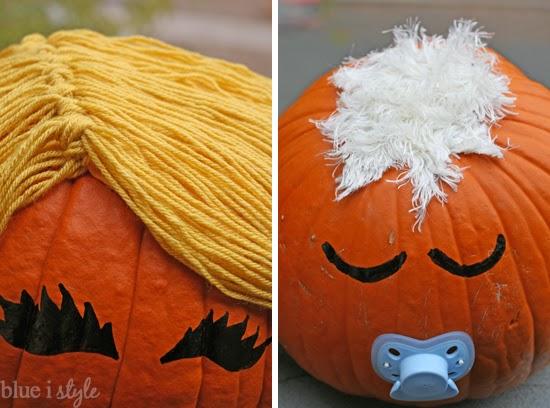 No carve pumpkin family