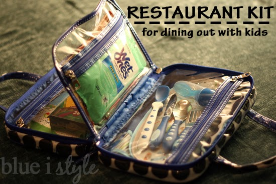 Restaurant kit for eating out with babies and toddlers