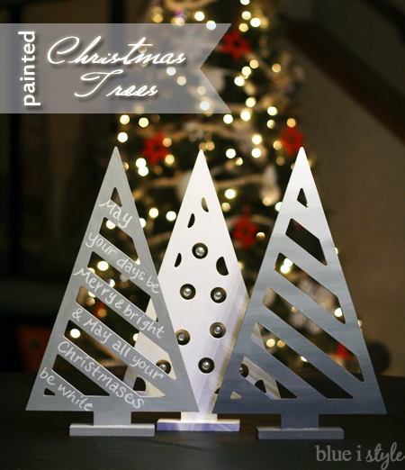 Modern Painted Christmas Trees