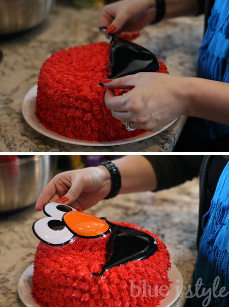 Entertaining With Style A Simple Elmo Cake Basic Cake
