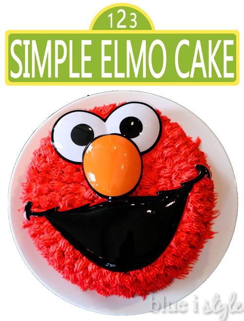 Astonishing Entertaining With Style A Simple Elmo Cake Basic Cake Personalised Birthday Cards Paralily Jamesorg