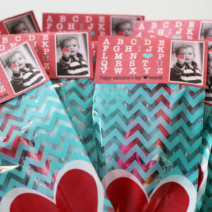 Printable Valentine's Gift Bag Toppers I Heart U