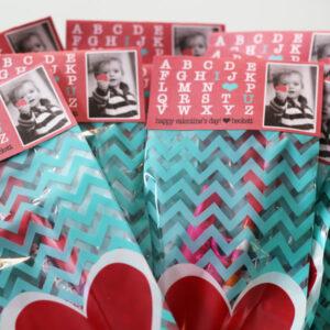 Printable Valentine's Gift Bag Toppers I Heart U