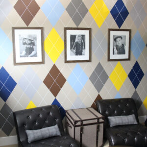 Paint an Argyle Feature Wall