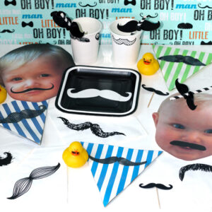 First Birthday Party Mustache Bash