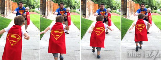 Super dad and his super boys