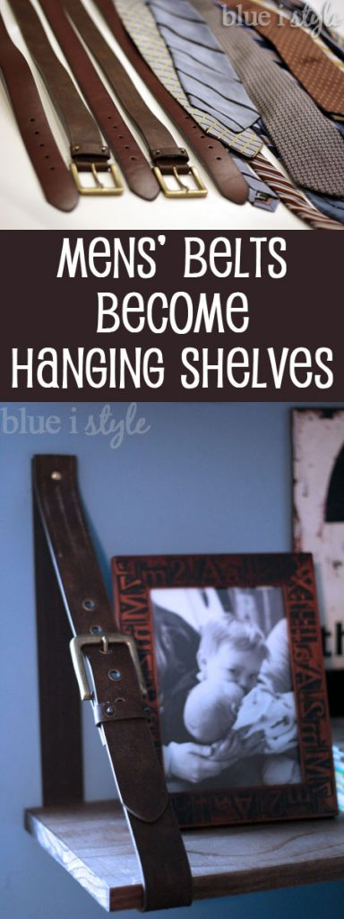 Hanging belt shelves