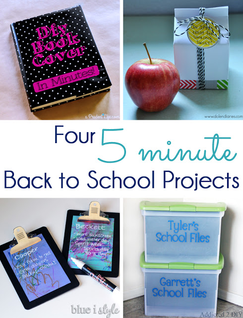 Five Minute back to school projects