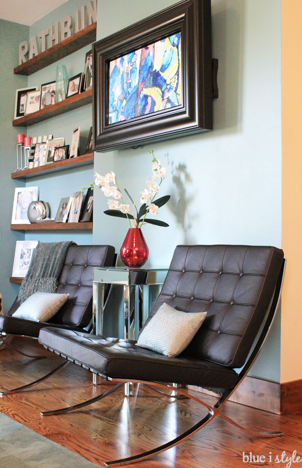 Floating Photo Shelves to Fill Wall Nook Inset