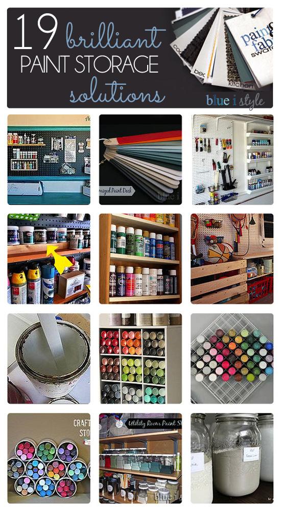 Paint storage and organization