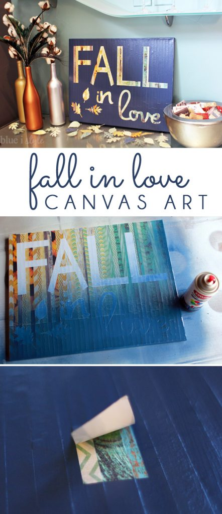 Fall in Love Canvas Art for Autumn