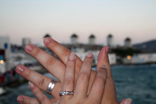 Wedding Ring Selfie Photo Tradition Mykonos