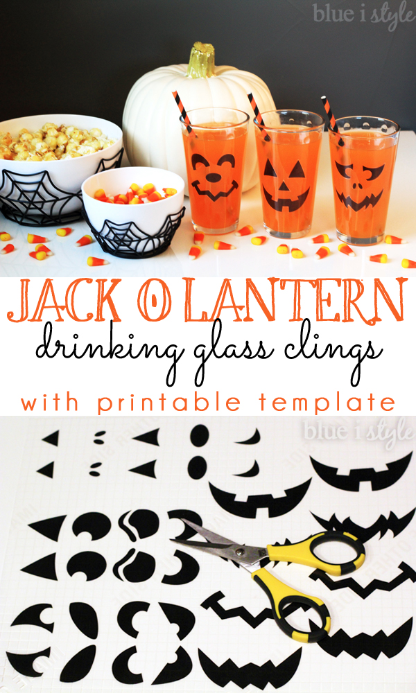 Jack o'Lantern Drinking Glass Clings