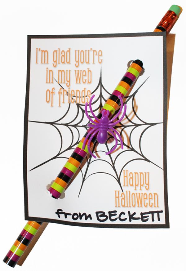Non-Candy Halloween Treats - Free Printable