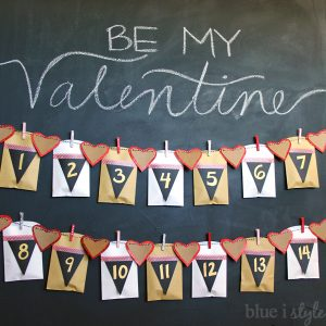 Valentines Countdown Banner for Kids