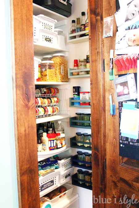 Unused pantry wall space is perfect for spice storage