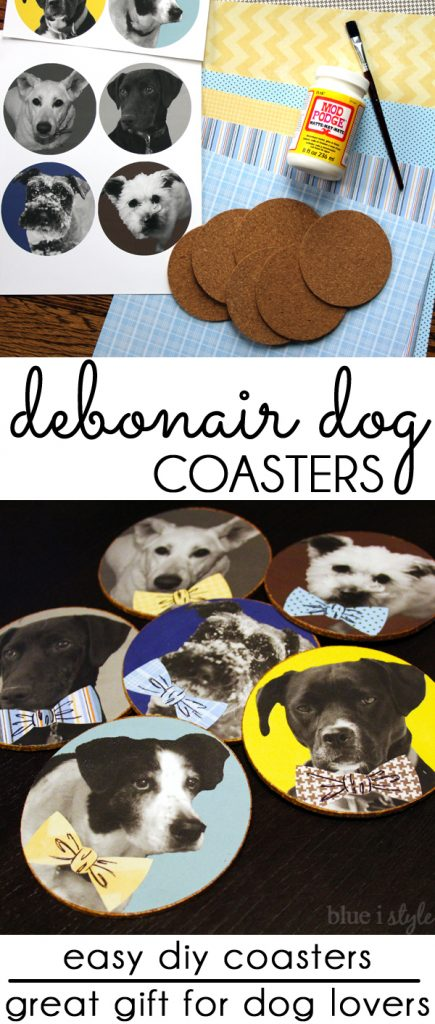 Bowtie Dog Coasters Dog Craft Pet Lover