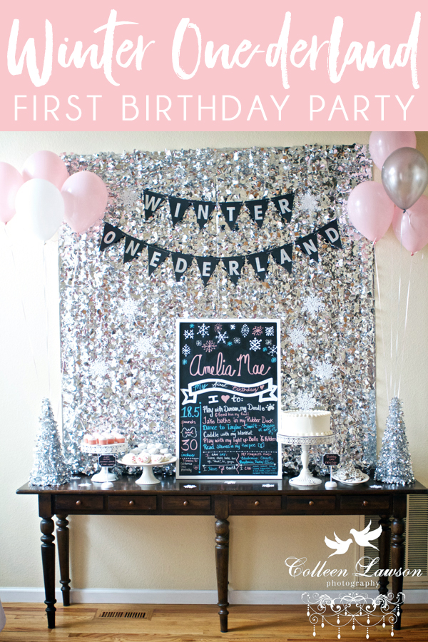 Winter Onderland First Birthday Decorations