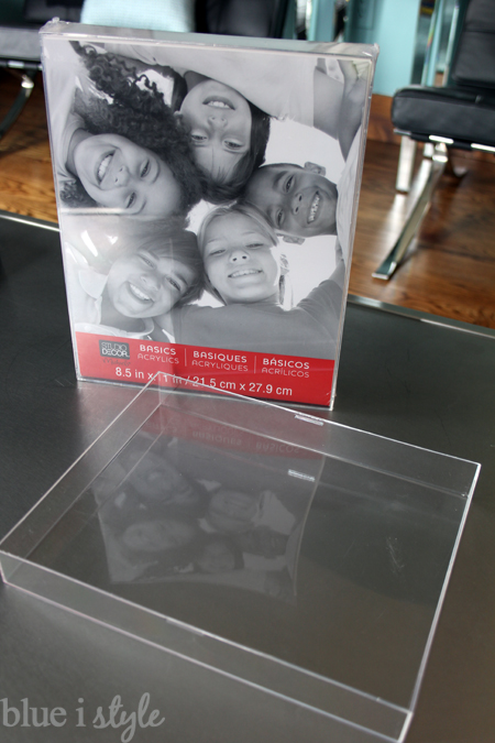 Picture Frame Becomes Acrylic Tray