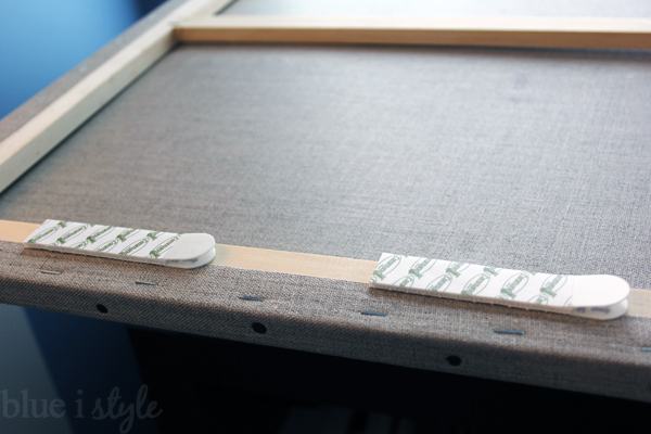 Command velcro strips for hanging canvas