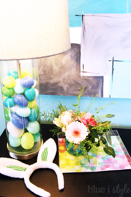 DIY acrylic tray Lamp filled with Easter Eggs