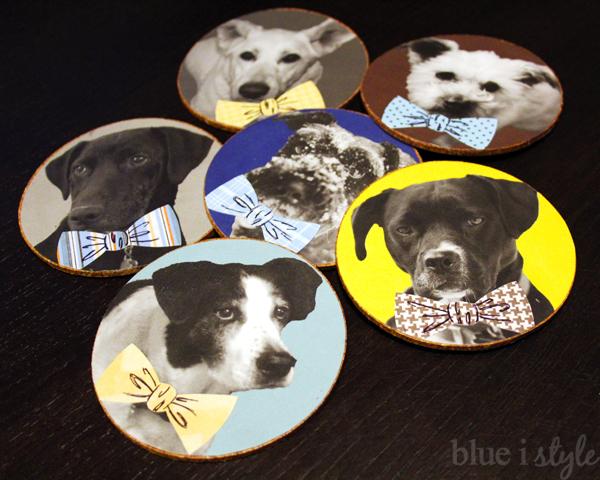 debonair menswear dog coasters craft project