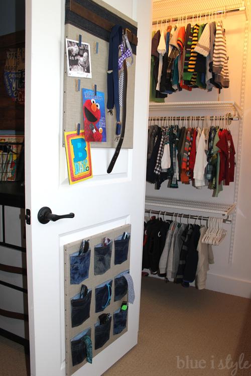 Back of door organizers for boys' accessories