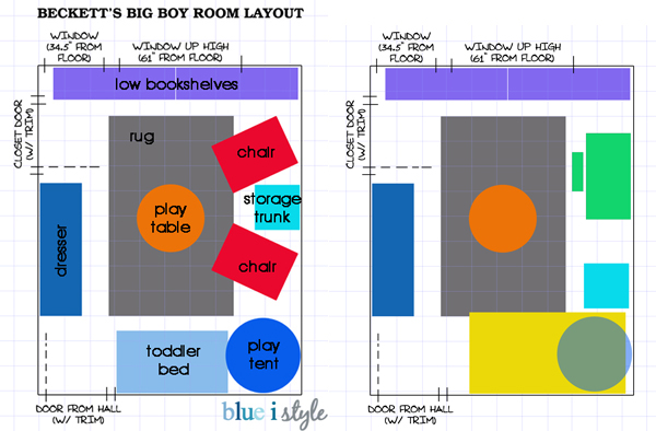 Boy's room layout plans