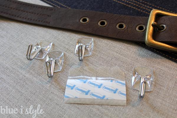 DIY organizer for boys using leather belt