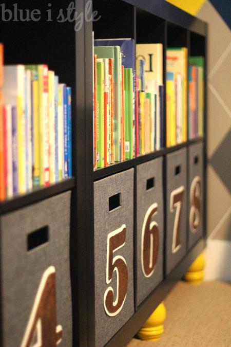 bookshelf and toy storage
