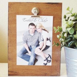 Reclaimed Wood Photo Clipboard