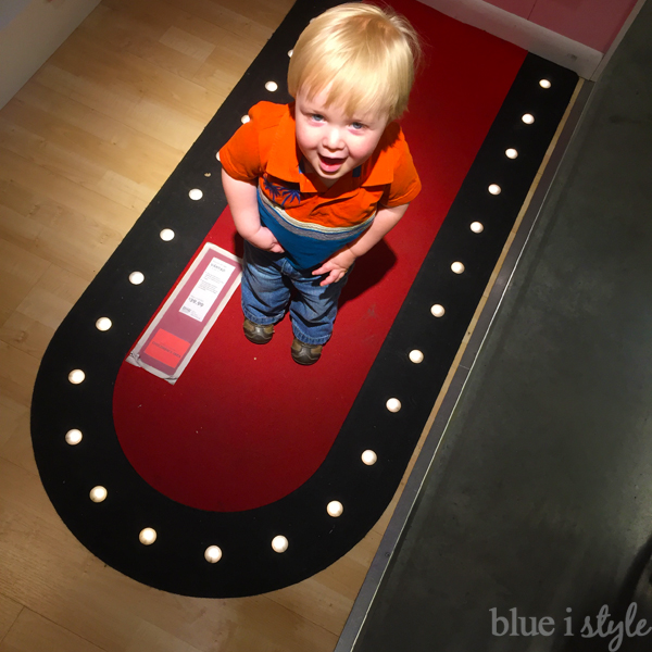 Lighted Rug for Under Stair Playroom