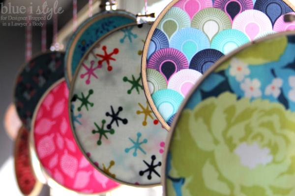 Cheerful Spring Fabric Window Display