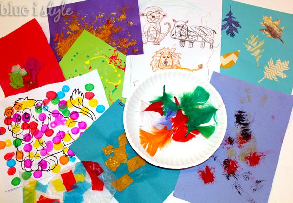 Organize and store kids' art