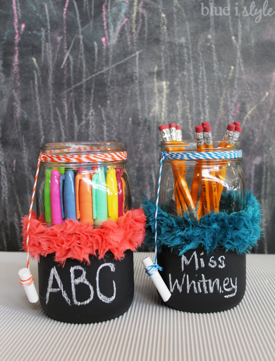 Chalkboard Mason Jar Teacher Appreciation Gift