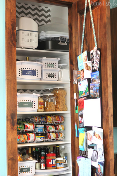 Bulletin Board on Back of Pantry Door