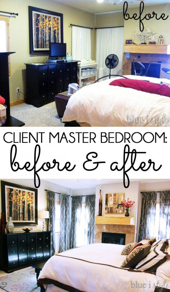 Client Master Bedroom Makeover