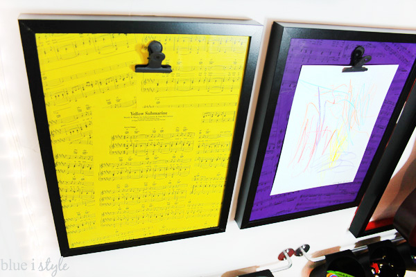 Music and art loving kids will like these DIY display boards to show off their art work!