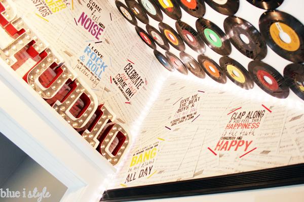 DIY sheet music wallpaper with music lyrics posters.