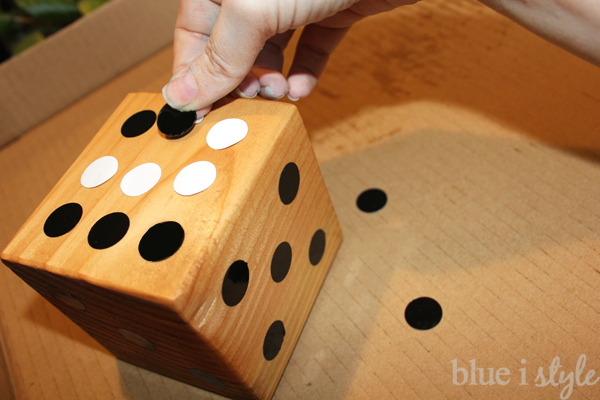 Adding dots to yard dice