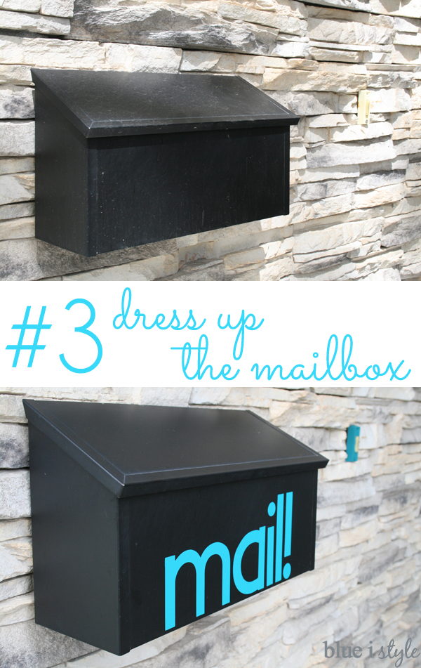 Adding vinyl letters to the mailbox