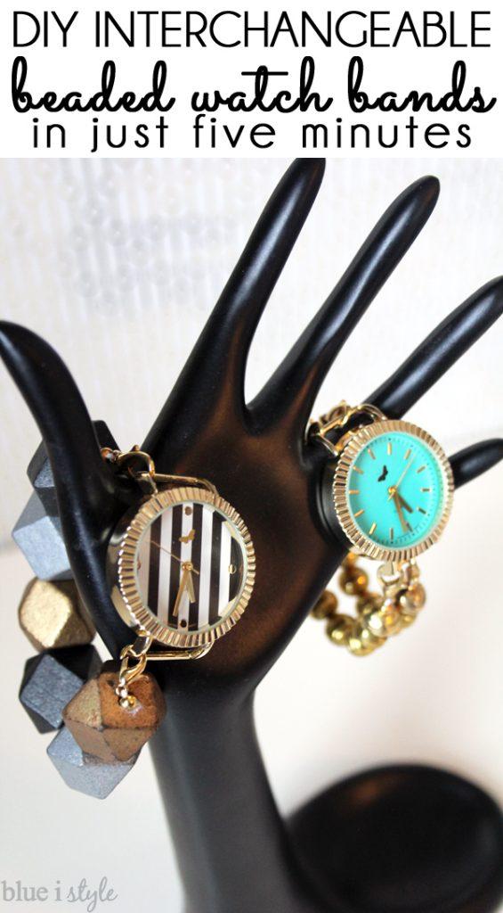 DIY Interchangeable Beaded Watch Bands