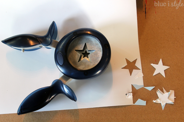 punching stars from adhesive vinyl