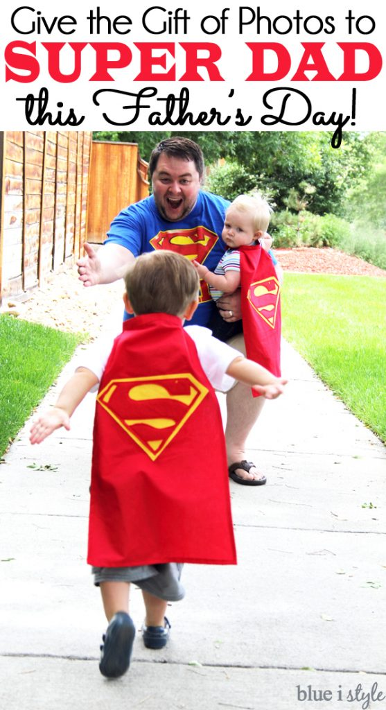Superman Father's Day Gift Idea Photo Shoot