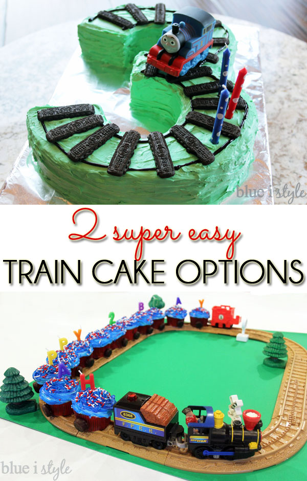 Thomas the Train cake and cupcake train